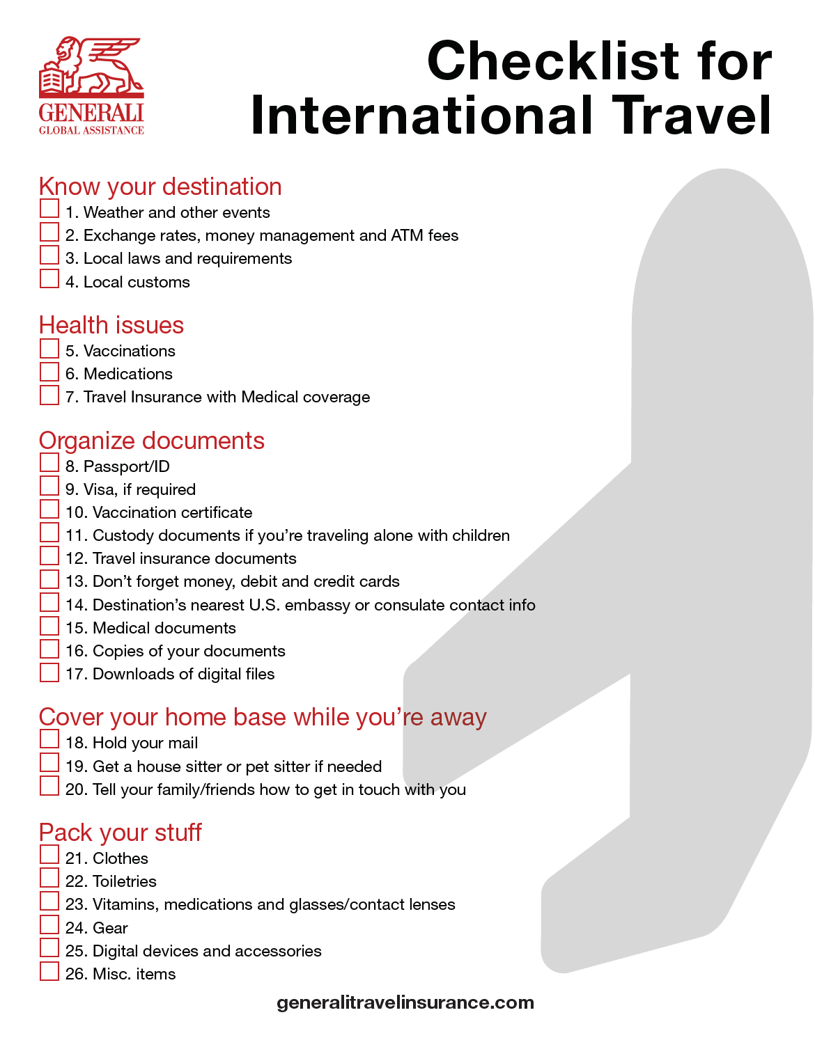 Download A Checklist For Traveling Abroad