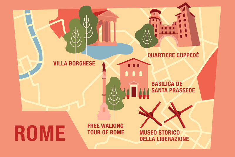 Free things to do in Rome infographic