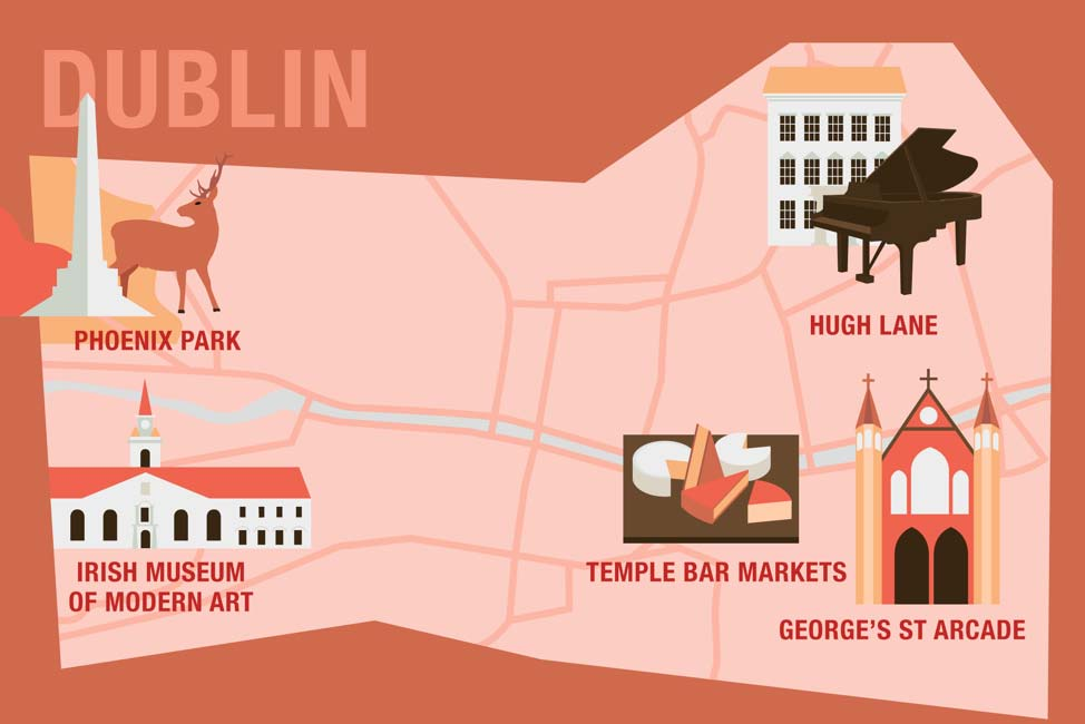 Free things to do in Dublin infographic