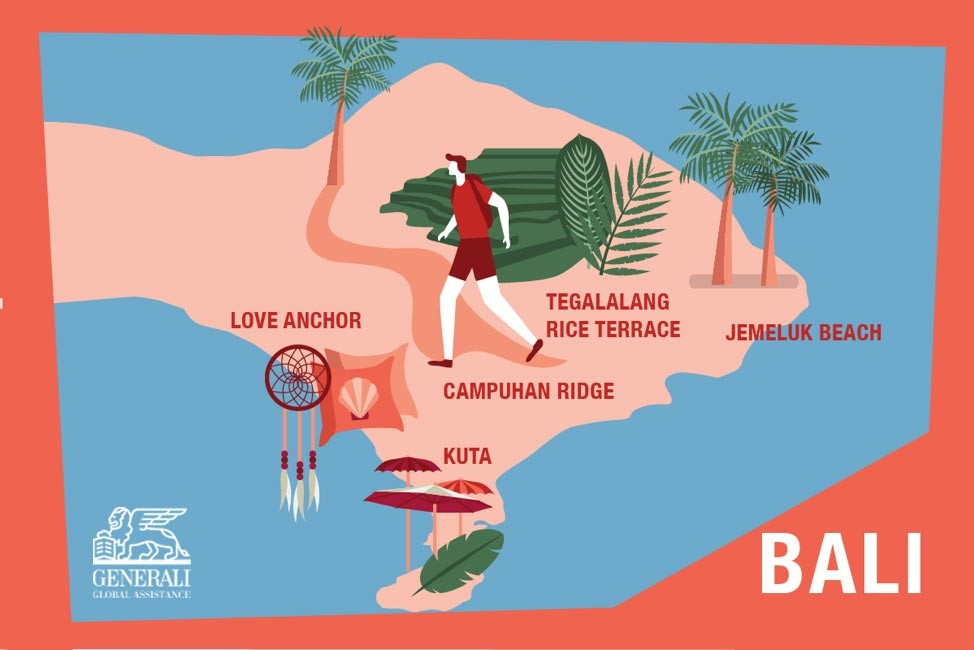 Free things to do in Bali infographic