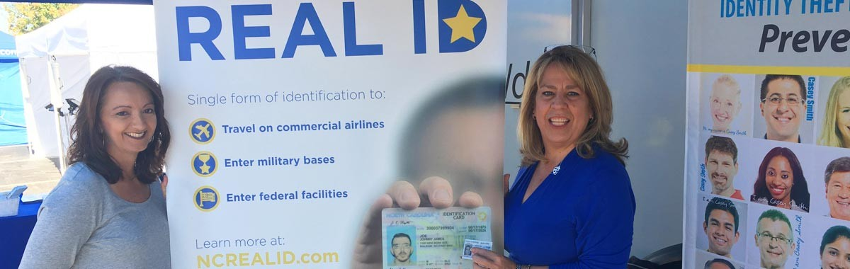Phyllis shows off her new REAL ID