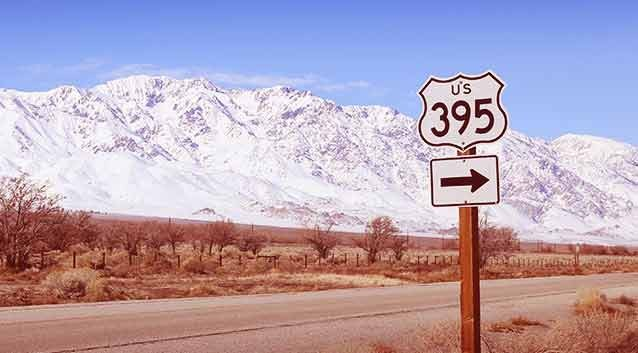 Route 395, USA