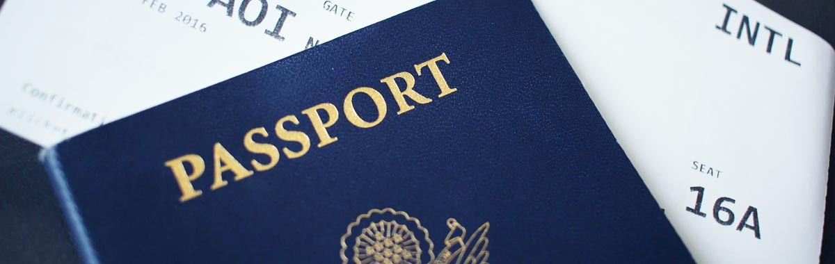 travel document, passport and airline ticket