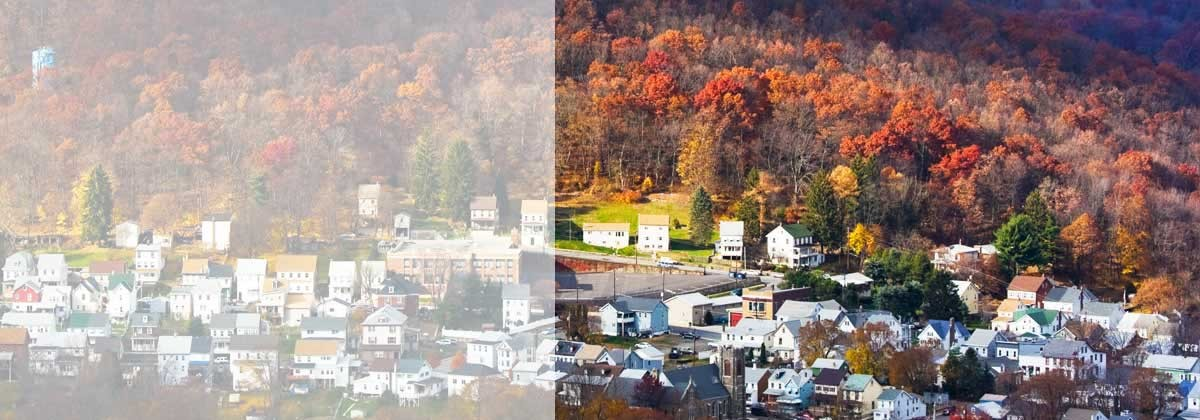 Small city surrounded by forest (Jim Thorpe, Pennsylvania)